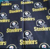 $5.00 - Strips of Steeler Fabric