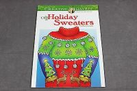 adult coloring book ugly holiday sweaters creative haven christmas