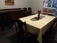 3 Peice Antique Dining Room with Hutch and Buffet With 6 Chairs