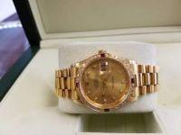 18K gold rolex president diamond /ruby/bez.