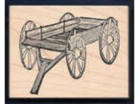 BUCKBOARD WAGON WHEELS Horse Drawn 25593 STAMPA ROSA wood