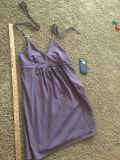 Victoria Secret, purple dress with built in bra top, in VGUC, halter style top, size Large, $5.00