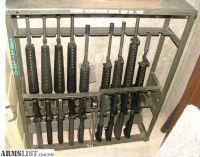 For Sale/Trade: U.S.G.I. m16 & ar15 rifle racks holds 10 rifles.