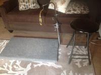 Grooming Table Top with Grooming Arm & Stool