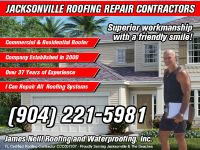 Jacksonville Fla Roofing Contractor 904.221.5981 CRC LIC/INS James Neill