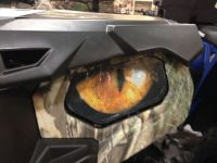 Find Polaris RZR 800-800S-900XP HEADLIGHT COVERS YELLOW eyes RUKINDCOVERS motorcycle in Medina, Ohio, United States, for US $18.00
