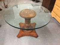 Coffee Table Accent Table Wooden and Glass