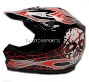 Sell YOUTH BLACK RED SKULL FLAME OFF-ROAD MOTOCROSS MOTORCYCLE HELMET ATV ~M/MEDIUM motorcycle in Pomona, California, US, for US $15.00