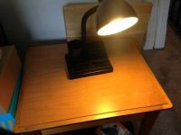 Black organizer college office desk lamp
