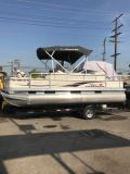 2006 21 ft sun tracker fishing barge with/trailer