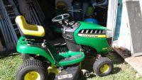 john deer lawn tractor 17.5 hoarse power runs great 42 inch cut