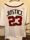 David Justice Autographed Atlanta Braves Jersey with COA