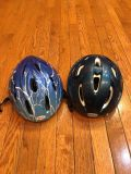 Two Child safety helmets