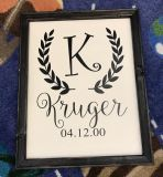 Family Farmhouse Style signs (prices vary by size)