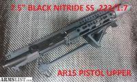 "For Sale: AR15 PISTOL UPPER 7.5"" SS BARREL 1:7 TWIST"