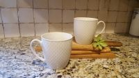 "Set of 2 Large Oversized Coffee Mugs. Holds 24 oz. New. No Chips or Cracks. 5"" T x 4.5"" R."