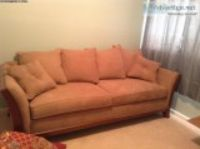 For Sale Beige Microfiber couch good condition