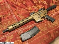 """For Sale: Brand New 10.5"""" AR15 pistol Burnt Bronze with Magpul Extras"""