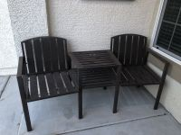 Patio chair without umbrella