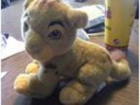 "Disney 8"" LION KING YOUNG SIMBA Plush Stuffed Lion Animal"