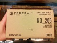 For Sale: Federal Primers small rifle #205 - 5000