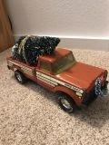 Metal antique truck with Christmas tree