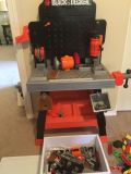 Kids black and decker work bench plus tools