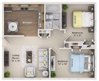 $1045 2 apartment in North Suburbs