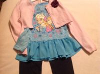 Little Girl NEW! Adorable 3 Pc Cute Frozen Design w/ Matching Jacket outfit! Size 5/5t maybe a small 6