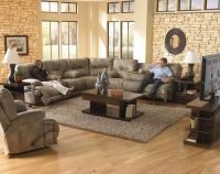 Floor Model - Reclining Voyager Brandy Sofa