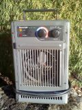 Two Electric Heaters - Steel Cased - Both Multi Wattage, Fan Speeds, & Thermostat Controls