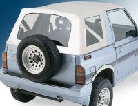 Sell Suzuki Sidekick Geo Tracker 95-98 White Soft Top GENTLY USED Clear windows motorcycle in Corona, California, US, for US $135.00
