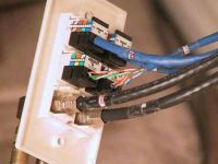 Home Office wiring, Flat screen installation, Cat 5e, Coax, Rg6,  CAT6 , internet, phone install