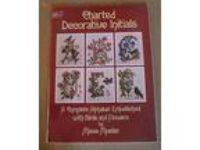CHARTED DECORATIVE INITIALS CROSS STITCH (2) BOOKS Misse