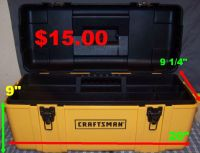 Craftsman Plastic Hand Tool Box in Great Condition.
