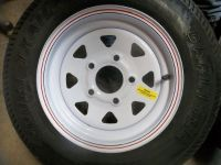 """Purchase TWO 530x12 Load Range C Carlisle Boat Trailer Tires on 5 on 4 1/2"""" Wheels motorcycle in Dyersburg, Tennessee, United States, for US $95.00"""