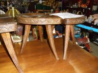 VINTAGE GERMAN ANTIQUE TABLE WITH STOLLS