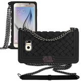 ***Samsung Galaxy S6 Braided Case With Chain Strap***BLACK
