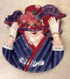 NEW, **Red Hat Society ** Serving Platter, Excellent Detail and Color