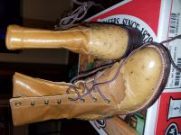 Custom lace up Ostrich Justin Boots
