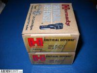 For Sale: Hornady .380 90gr Critical Defense