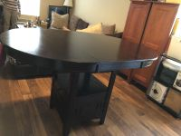 Lavon counter height table cappuccino haddigan dining room table