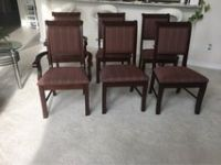 6 solid wood formal dining chairs