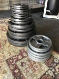 Olympic weight/plate/bar set