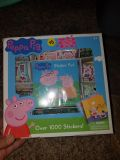 Peppa Pig stickers and sticker book