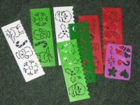 lot of kids Christmas drawing stencils