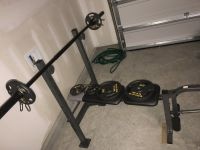 Golds Gym Bench with weights