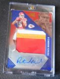 PATRICK MAHOMES RC THREE COLOR AUTO PATCH 7 OF 10