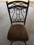 Set of 4 Cushioned seat dining chairs