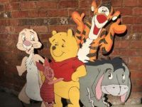 Pooh & friends wooden sign